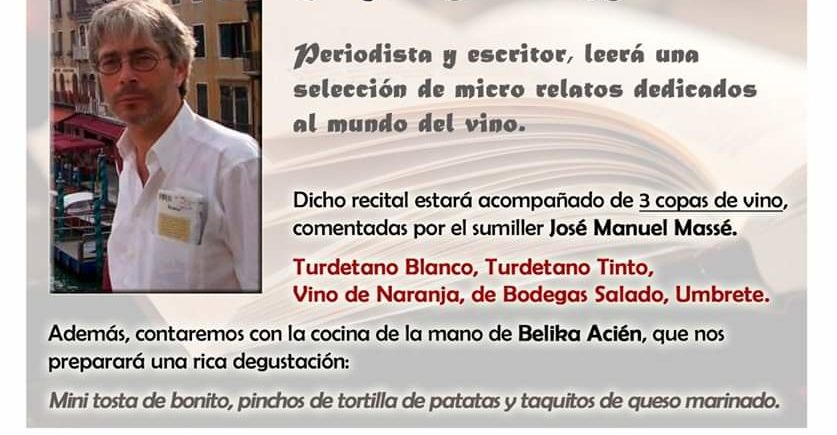 Cata literaria Relatos del Vino. 29 de enero. Sevilla.