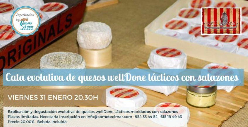 Cata de quesos con salazones. 31 de enero. Sevilla.
