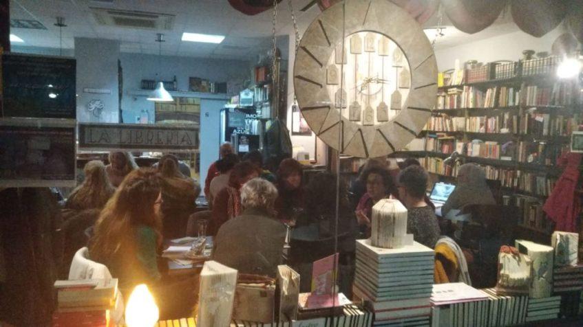 La libro taberna La Librería se ha convertido en sede de numerosos encuentros literarios. Foto cedida por el establecimiento.