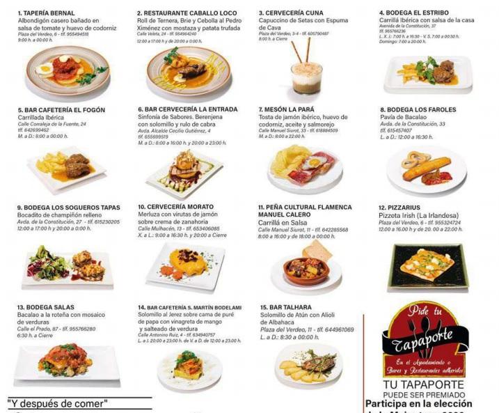 Elaboraciones gastronómicas que participan en esta iniciativa. Foto cedida por los establecimientos.