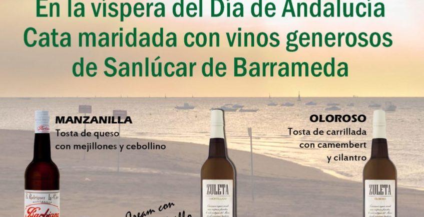 Cata maridada con vinos generosos de Sanlúcar. 27 de febrero. Sevilla
