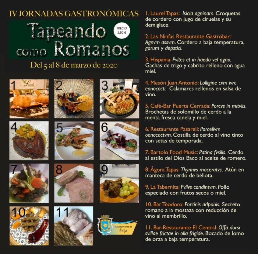 Oferta gastronómica de cada uno de los participantes. Foto cedida por el Ayuntamiento de Écija.
