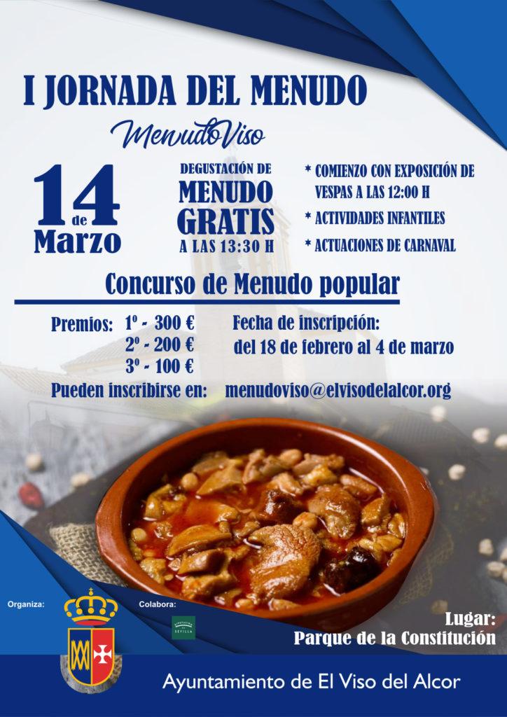 Cartel anunciador de la I Jornada del Menudo. Foto cedida por el Ayuntamiento del Viso del Alcor