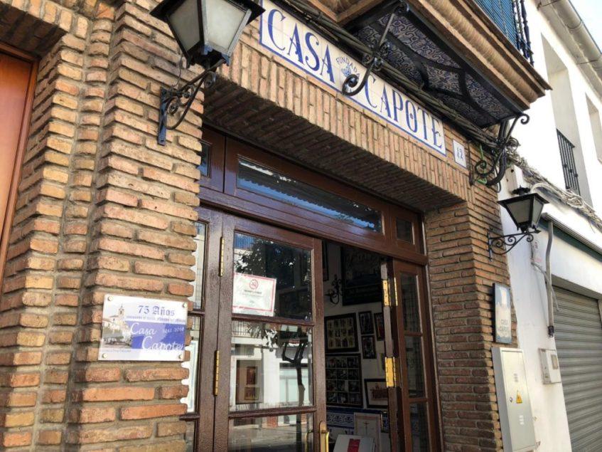 Casa Capote, fundado en 1941, fue el promotor de la comercialización del menudo del Viso del Alcor. Foto: CosasDeComé.