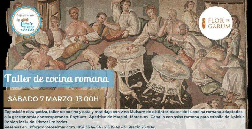 Taller de cocina romana. 7 de marzo. Sevilla