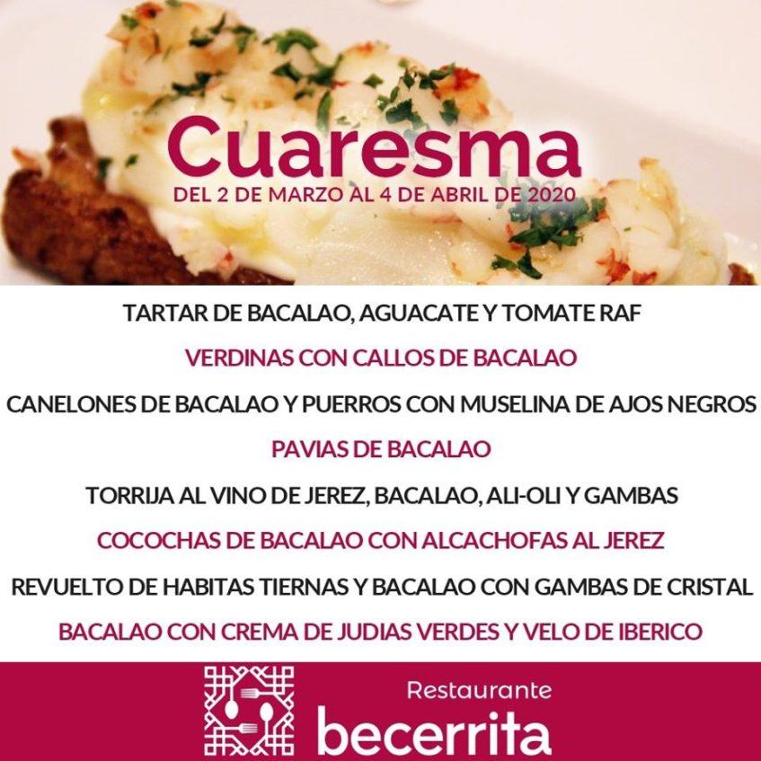 Cartel anunciador de este evento gastronómico dedicado al bacalao. Foto cedida por el establecimiento.