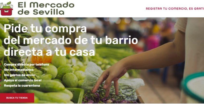 Nace una web que aglutina los productos de los mercados de Sevilla con envío gratuito a domicilio