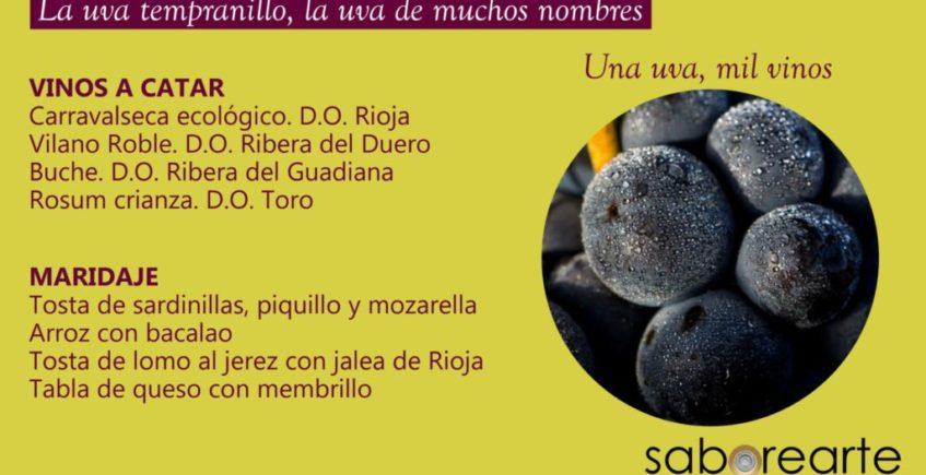 Cata de vinos monovarietales en Saborearte. 5 de marzo. Sevilla