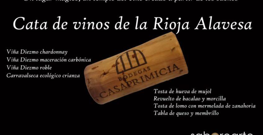 Cata de vinos de la Rioja Alavesa en Saborearte. 12 de marzo. Sevilla