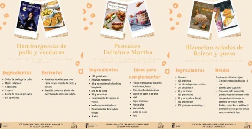 Las bibliotecas municipales de Tocina y Los Rosales comparten recetas online para combatir el confinamiento