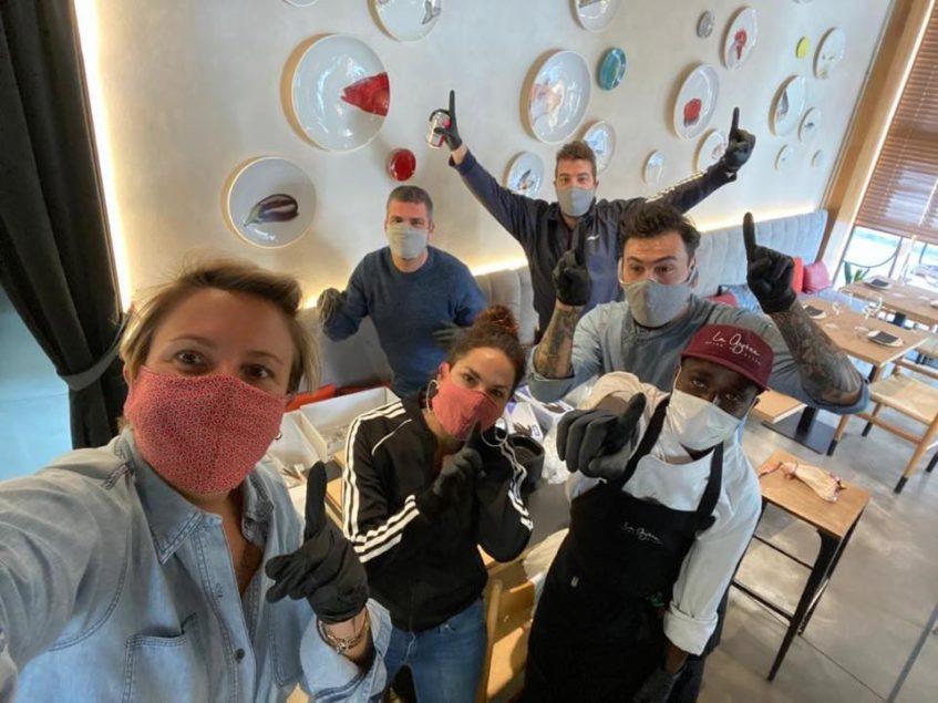 El equipo de La Azotea se ha volcado en su nuevo servicio de menús y platos a domicilio. Foto cedida por el establecimiento