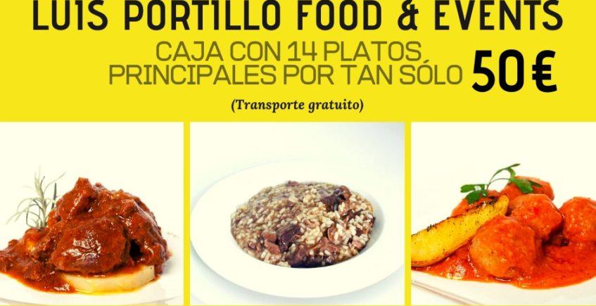 Los 14 platos a domicilio de Luis Portillo