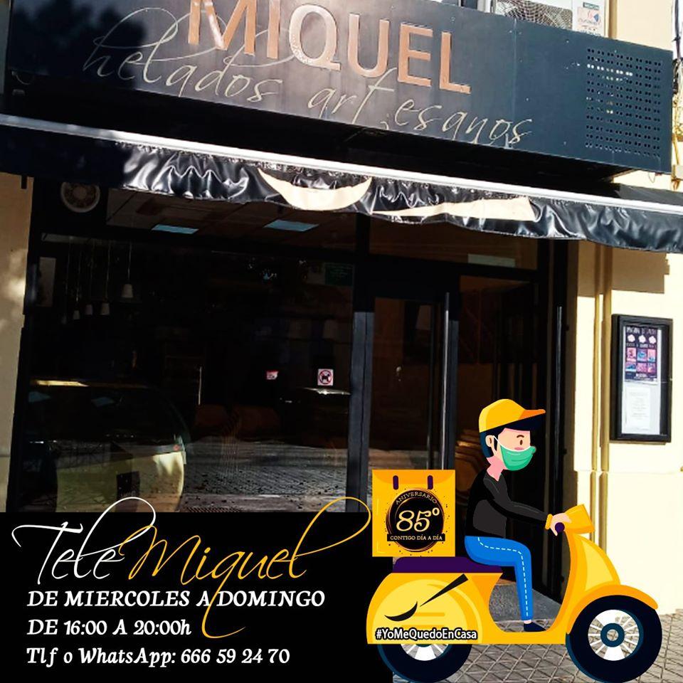 Helados artesanos Miquel ha lanzado 'Tele-Miquel' durante Semana Santa. Foto cedida por el establecimiento.