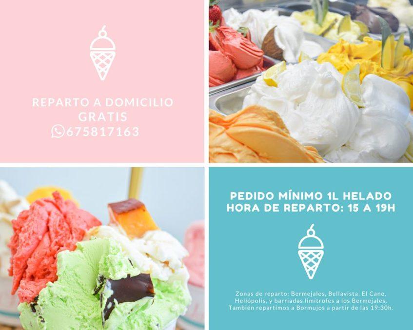 Heladería La Fábrica elabora tanto helados de crema como sorbetes. Foto cedida por el establecimiento