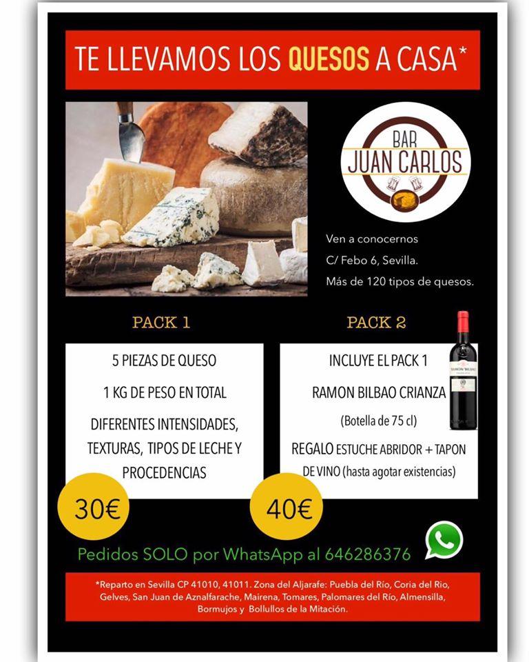 Oferta de productos a domicilio del bar Juan Carlos. Foto cedida por el establecimiento