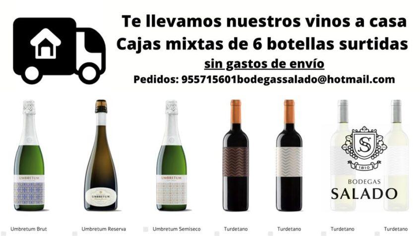 Los pedidos a domicilio de Bodegas Salado, una de sus estrategias de venta durante la crisis del coronavirus. Foto cedida por el establecimiento