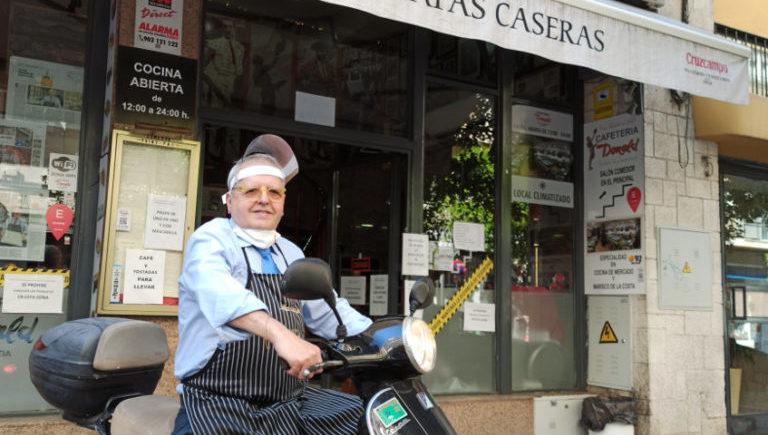 Mariano en moto