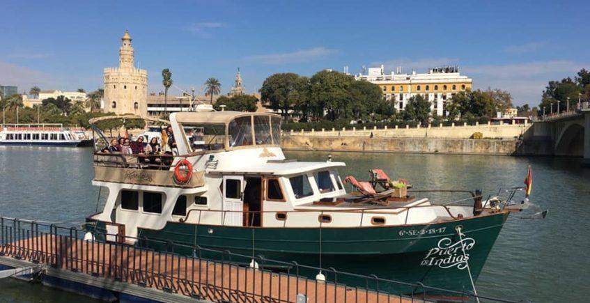 Vuelven los almuerzos y cenas por el río Guadalquivir en el barco de Pigafetta