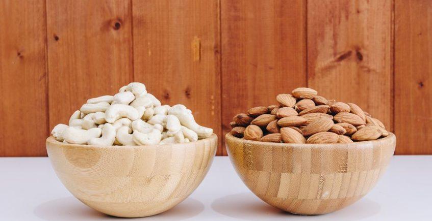 Anacardos, elemento base de los quesos de Popurry y leche de almendras de sus helados. Foto cedida por Popurry