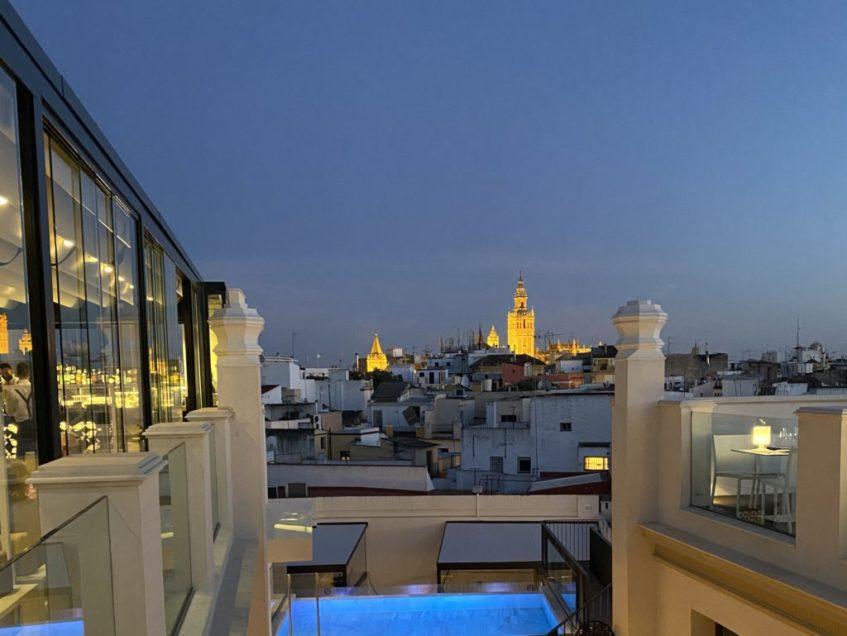 Una de las vistas de la nueva terraza de Recoveco, sobre el Hotel Unuk Soho. Foto cedida por el establecimiento