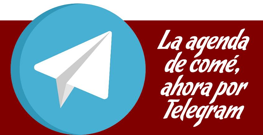 La agenda de Cosas de Comé Sevilla, ahora en Telegram