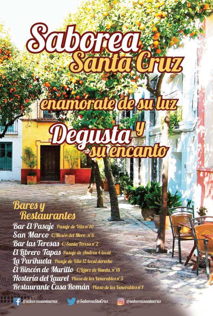 La campaña Saborea Santa Cruz pretende revitalizar la hostelería de esta céntrica zona sevillana. Imagen cedida por los establecimiento participantes