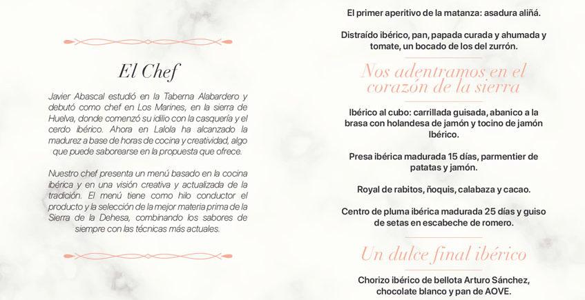 menu iberico