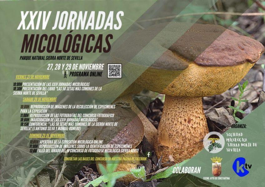 Cartel anunciador de las XXIV Jornadas Micológicas. Foto cedida por la organización