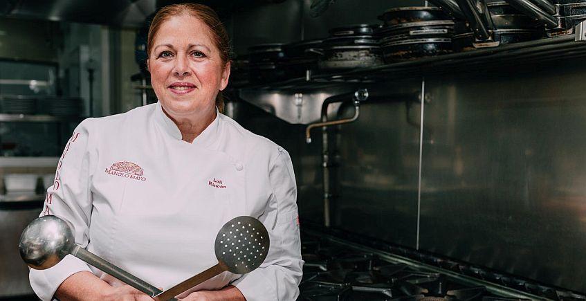 Loli Rincón, jefa de cocina deL restaurante Manolo Mayo. Foto cedida por el establecimiento