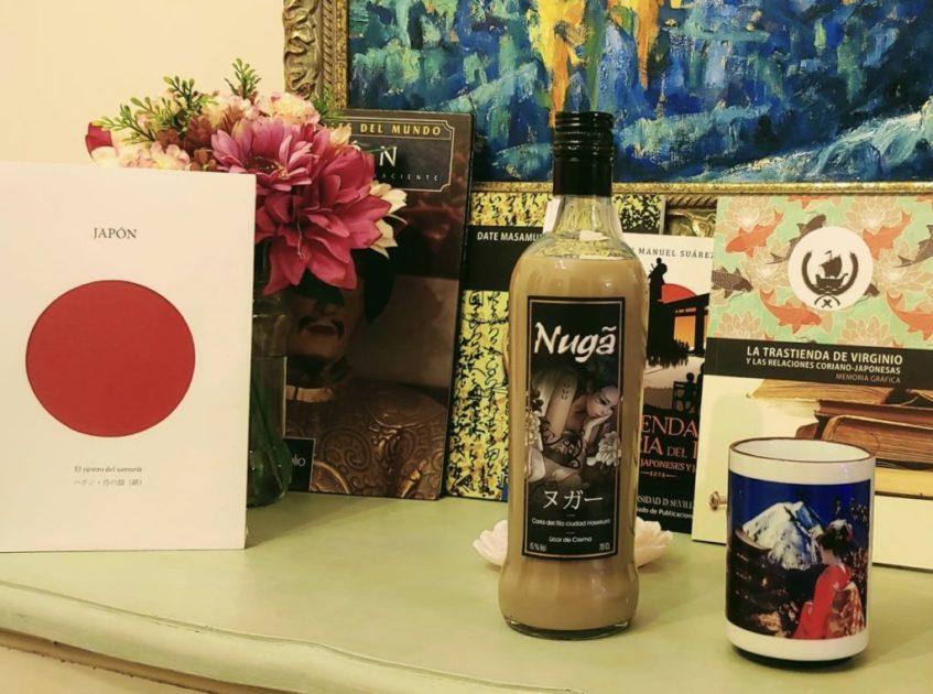 Nuga, el nuevo licor crema con sabor a chocolate blanco, galletas María y almendras dulces y amargas de Sake de Coria. Foto cedida por Antonio Bizcocho
