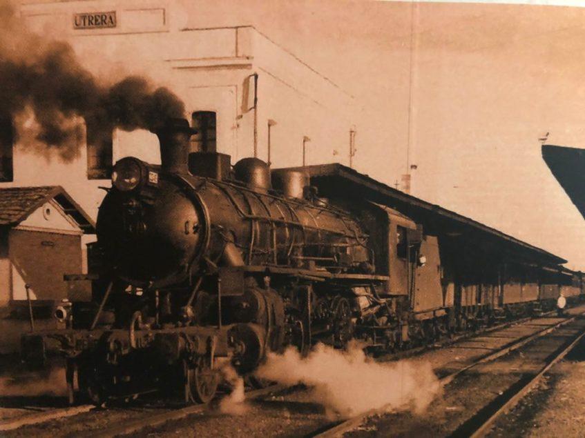 La llegada del tren a la localidad jugó un papel fundamental en la popularización del mostachón. Foto cedida por la confitería Diego Vázquez