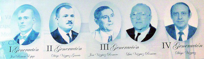 Juan Romero y su yerno Diego Vázquez comenzaron a fabricar este dulce en 1880. Foto cedida por la confitería Diego Vázquez