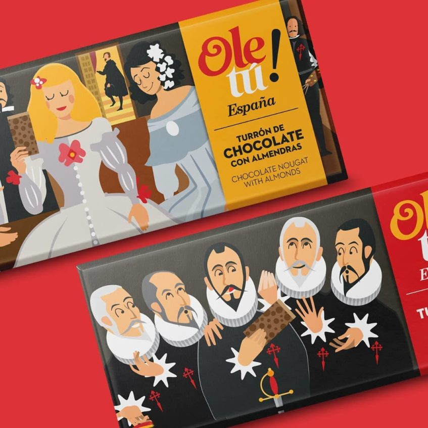Turrones y chocolates revestidos con cuadros de grandes pintores españoles. Foto cedida por la empresa