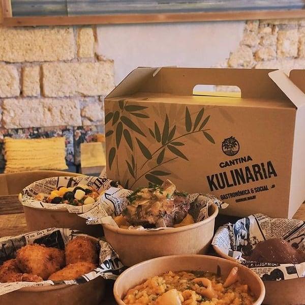 'Caja Kulinaria', una versión muy personal del servicio de comida para recoger en el local. Foto cedida por el establecimiento