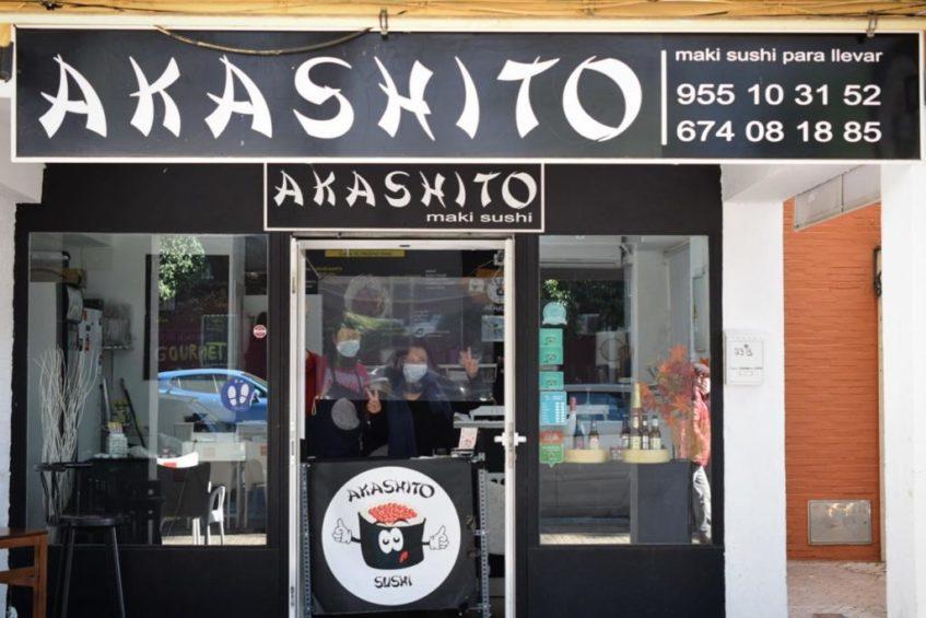 Akashito ha popularizado el consumo de sushi en Triana y las zonas aledañas. Foto cedida por el establecimiento