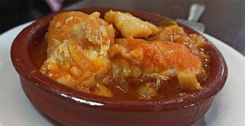 El bacalao con tomate de la bodeguita Nicomedes