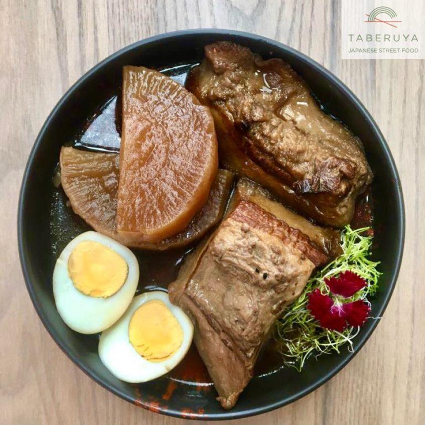 Buta- Nokakuni, guiso de panceta de cerdo al estilo okinawa. Foto cedida por el establecimiento