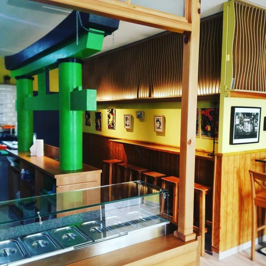 Nuevo local de Wasabi, en el pionero en Sevilla en las tiendas de sushi, ubicado en la calle Amor de Dios, número 36. Foto cedida por el establecimiento