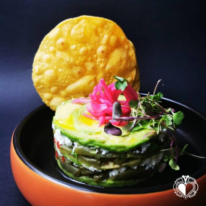 Ensalada de nopales con aguacate de Sed de México. Foto cedida por el establecimiento