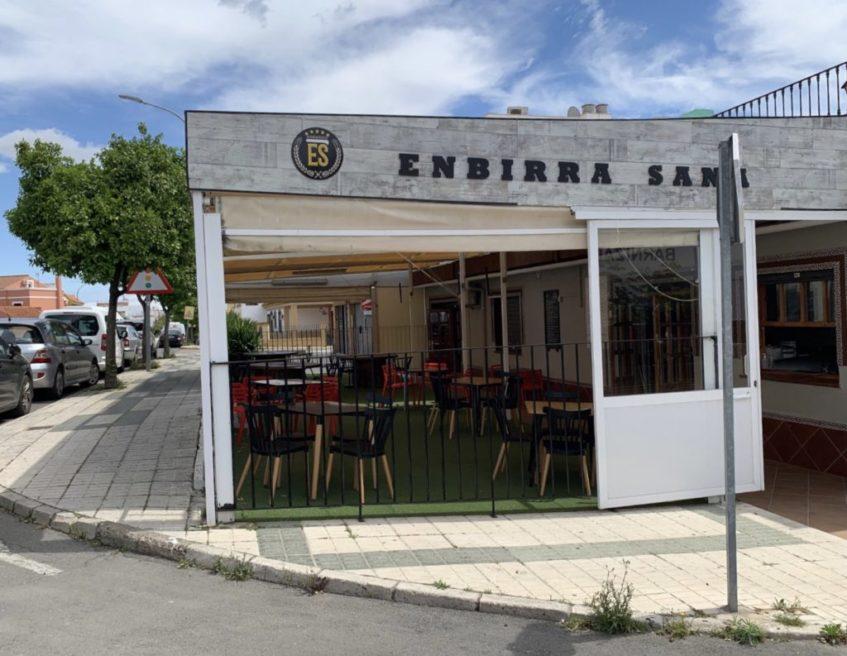 Ubicación de Enbirra Sana en Bormujos, en la avenida Pablo Coso Calero. Foto cedida por el establecimiento
