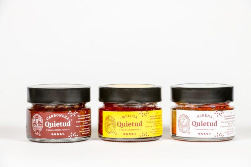 Tres de las salsas de Quietud tienen un formato más compacto. Foto cedida por la empresa