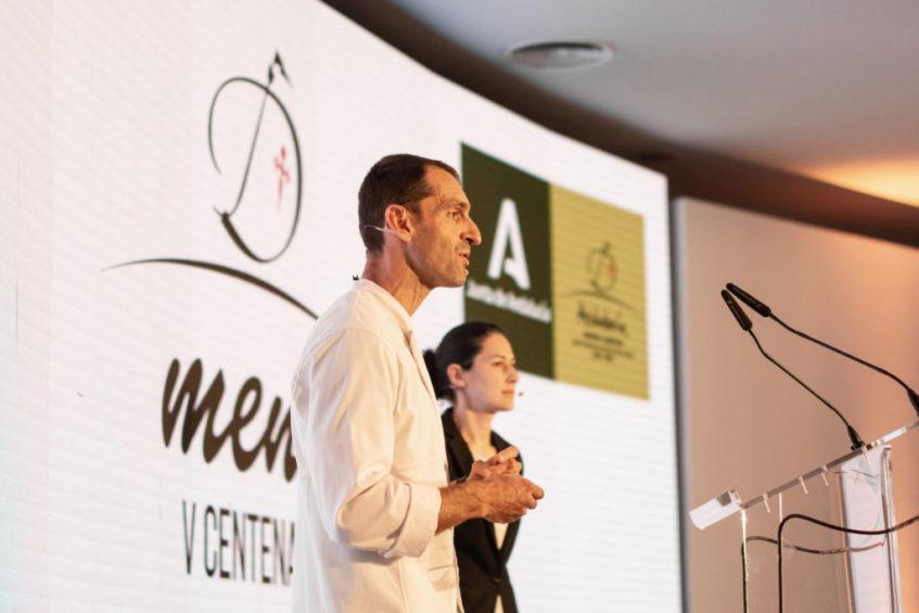 Presentación del menú V Centenario en Fitur. Foto cedida por Abantal
