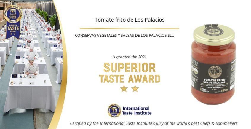 Premio internacional para el tomate frito de Tierra Palaciega