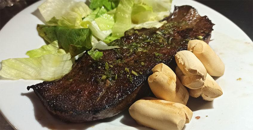 El filete de hígado a la plancha de Casa Gálvez