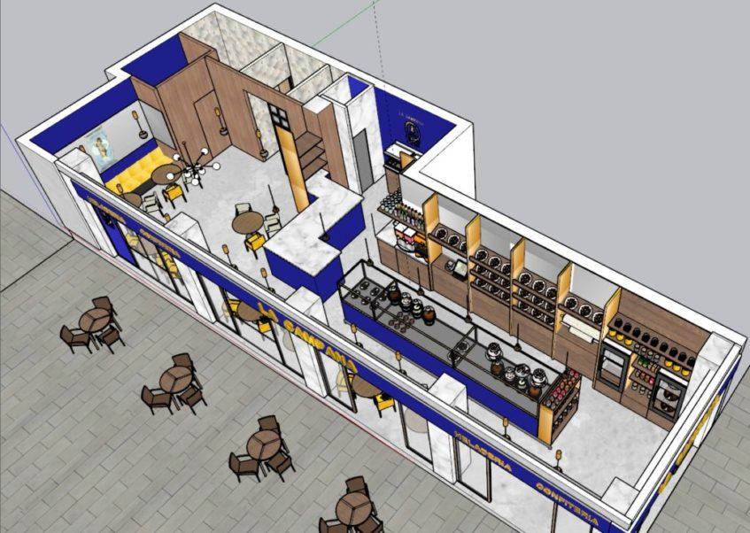 Maqueta del nuevo establecimiento de la Campana que se emplazará en la avenida de la Constitución. Foto cedida por La Campana