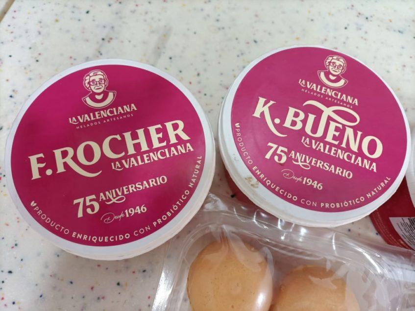 Los helados probióticos se comercializan en tarrinas de medio litro. Foto cedida por el establecimiento